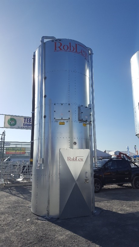 RobLew 6 Tonne Single Enclosed Silo
