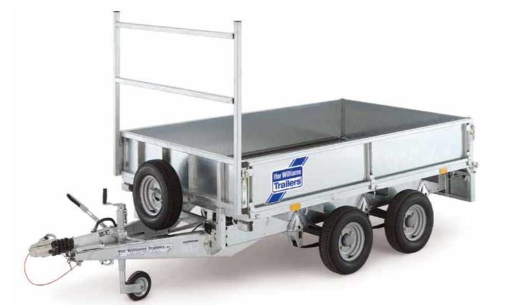 Ifor Williams 12ft LM126 Flatbed Trailer