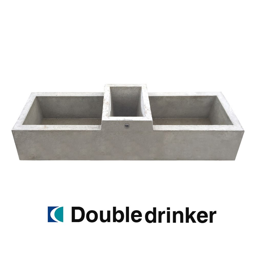 Creagh Concrete 114L Double Drinker Troughs