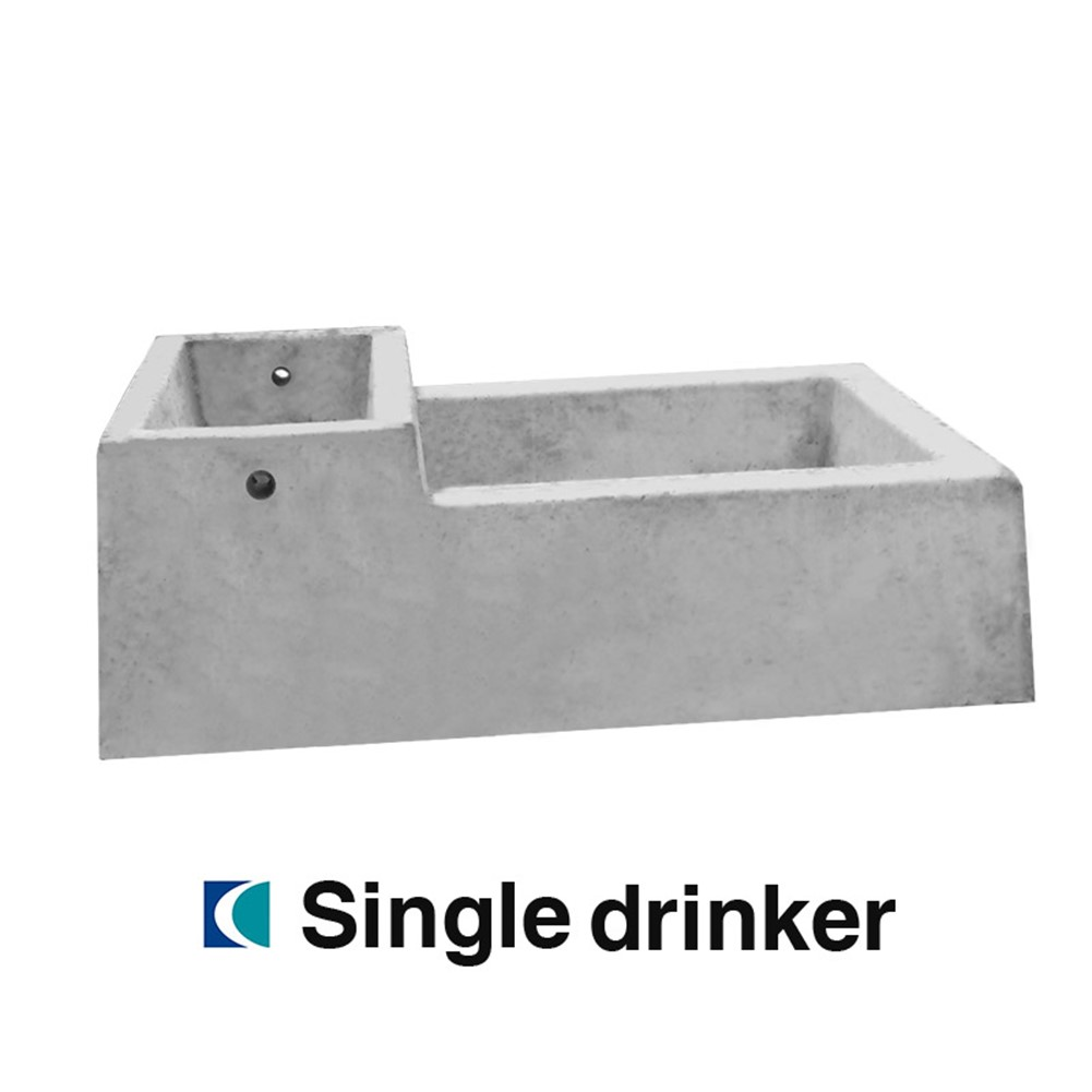 Creagh Concrete  55L Single Drinker Troughs