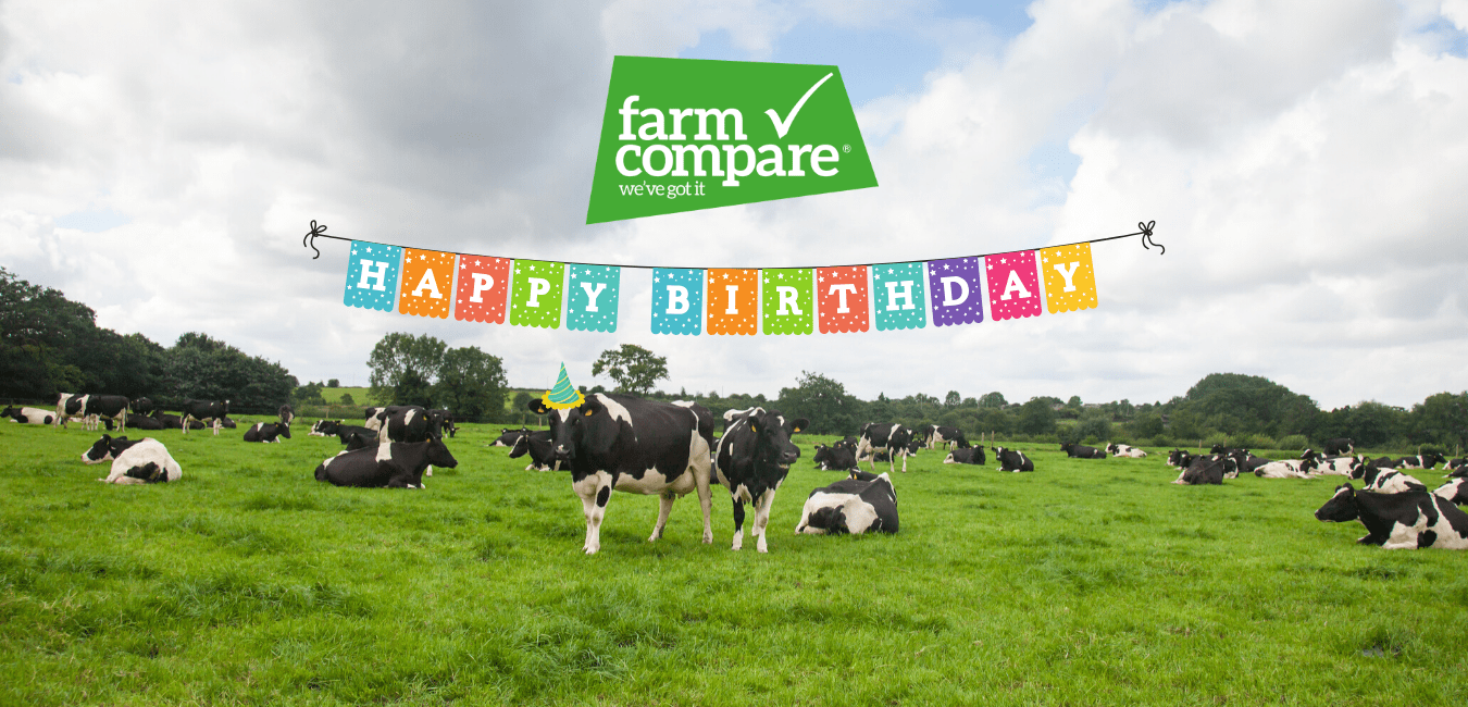 Farm Compare is 1 year old and to celebrate we're giving away a big prize!