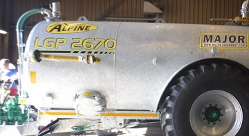 Major Contractor ALPINE LGP Slurry Tanker 2670G (MA2670ALP - LGP)