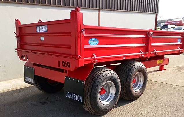 Johnston Bros 6 Tonne 12ft Drop Side Tipping Trailer