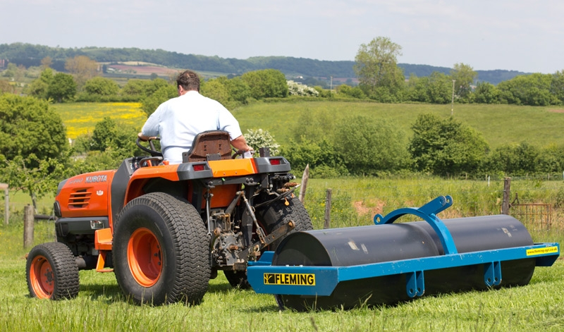 "Fleming Agri 2.5m x 35"" x 12mm Trailed & 3 Point Linkage Land Roller."