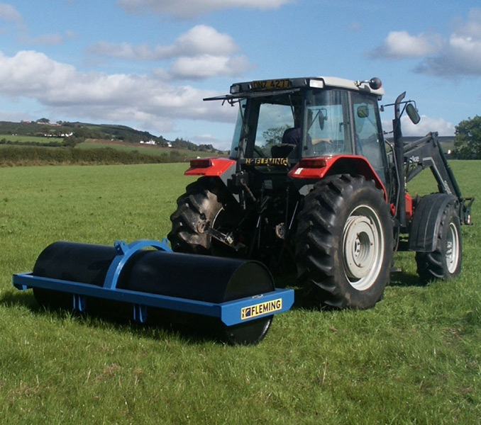 "Fleming Agri 3m x 29"" x 10mm Trailed & 3 Point Linkage Land Roller"