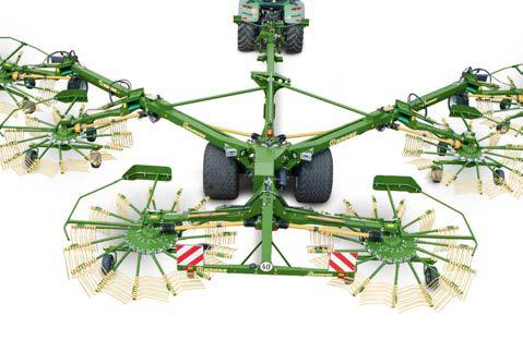 KRONE Swadro 2000 Six Rotor Centre Delivery Rake