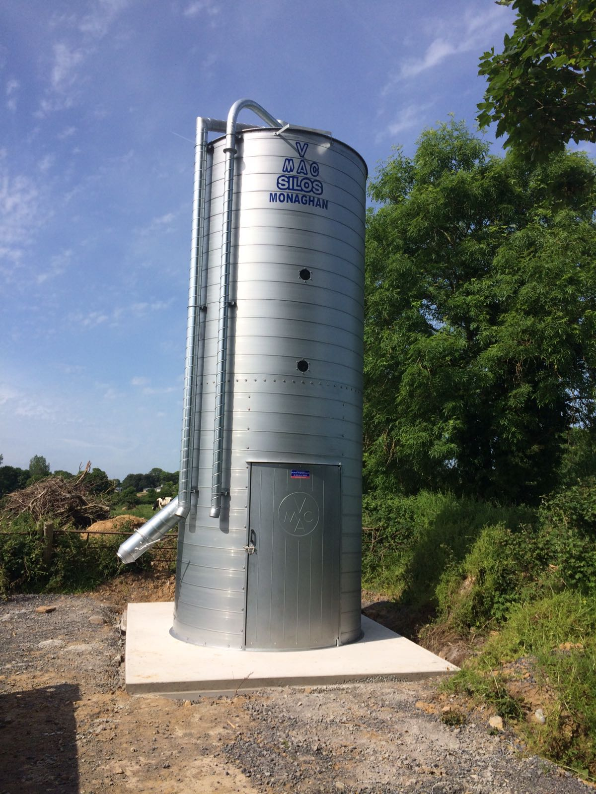 V-MAC 5 Tonne Single Enclosed Silo