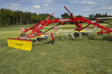 PÖTTINGER TOP 812 Twin Rotor Rake with Side Swath Placement