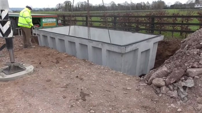Carlow Concrete Tanks 8,000 Gallon (36.0m³) Slatted RectangularTank