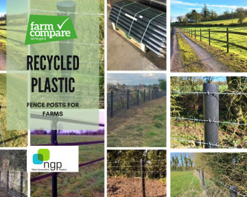 Recycled plastic takes on a new shape—fence posts for farms