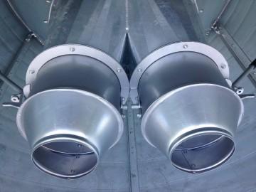 V-MAC 45 Tonne Split Enclosed Silo