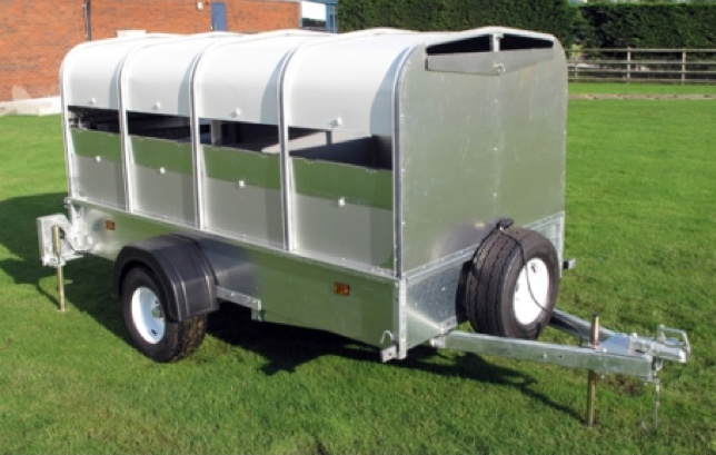 Indespension 8ft x 4ft Small Unbraked Livestock Trailer